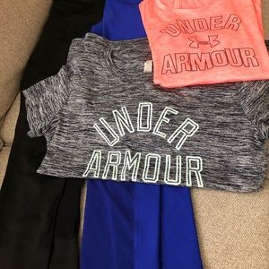 Underarmour tops and other brand leggings
